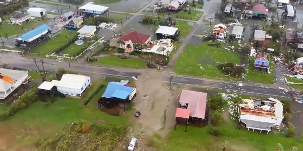 hurricane ida drone video