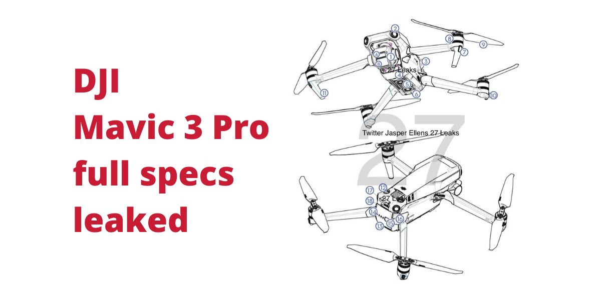 DJI Mavic 3 Pro full specs