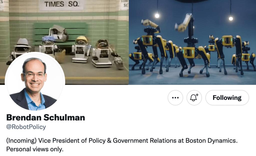 Brendan Schulman Boston Dynamics