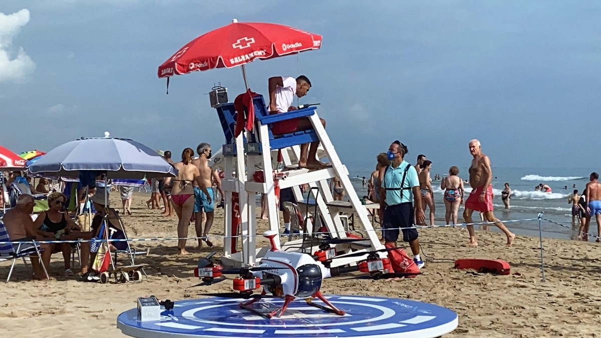 drones saving swimmers