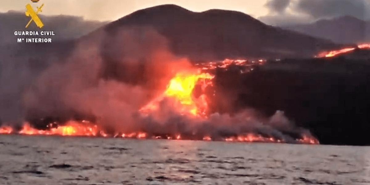 la palma volcano ocean