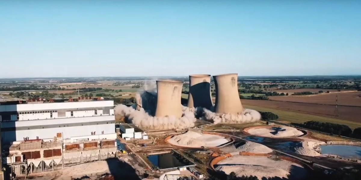 drone video demolition