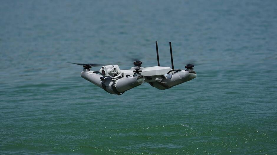 French UAV water