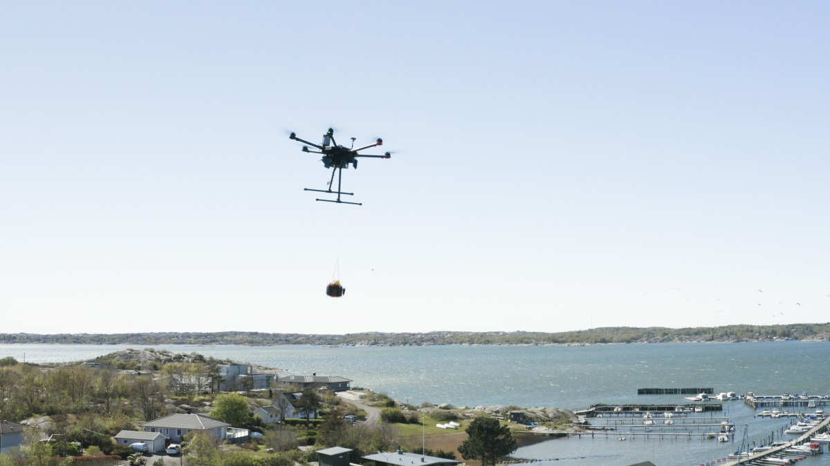 drone delivery AED